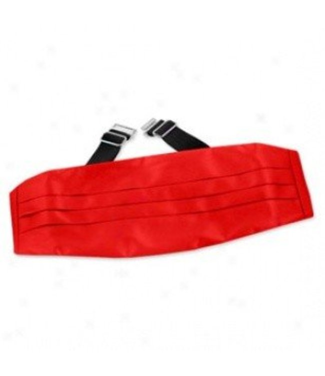 Cummerbund, Satin - Red