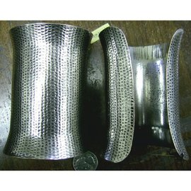 Arm Band, Silver - Mini Hammer Effect by New Touch