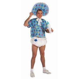 Forum Novelties Baby Kit - Diaper, Pacifier, Pin -Blue (C11)