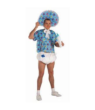 Forum Novelties Adult Baby Kit, Blue - Diaper/Pacifier/Pin