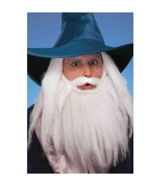 Forum Novelties Beard And Moustache 14 Inch White /202