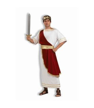 Forum Novelties Toga Julius Caesar, Red Drape - Adult One Size by Forum Novelties