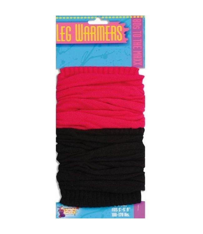 Forum Novelties 80s Pink And Black Leg Warmers (C4)