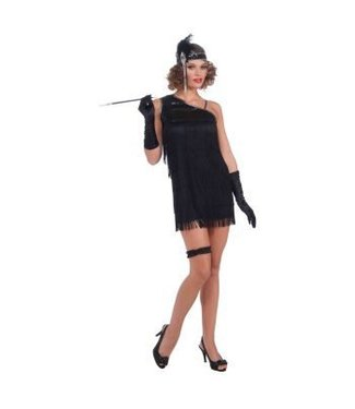 Forum Novelties Black Diamond Dazzle Flapper Adult 14-16