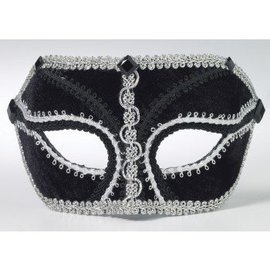 Forum Novelties Black Venetian Mask IM-028 With Comfort Arms