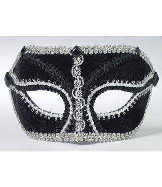Forum Novelties Black Venetian Mask IM-028 With Comfort Arms