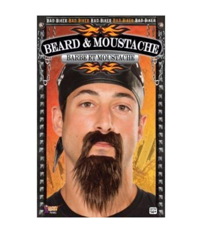Forum Novelties Beard And Moustache Biker Black