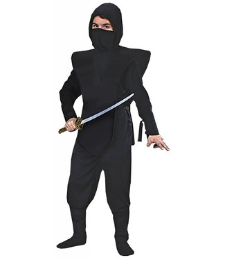 Morris Costumes and Lacey Fashions Complete Black Ninja - Child Large(/444)