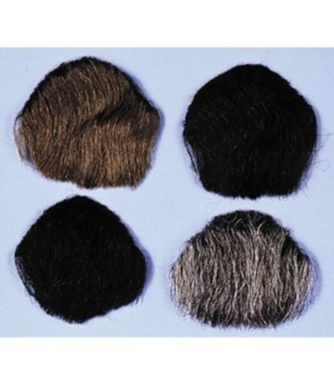 Morris Costumes and Lacey Fashions 1 Point Beard Goatee Grey - Human Hair