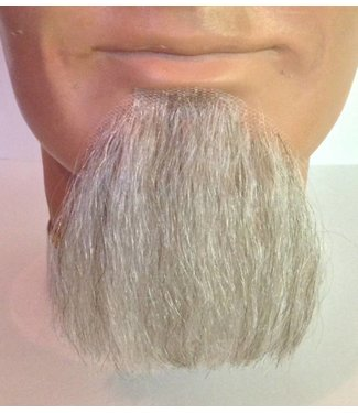 Morris Costumes and Lacey Fashions 1 Point Beard Goatee White - Human Hair