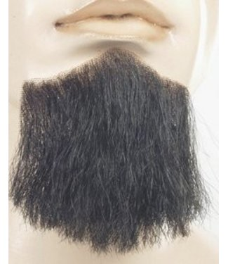 Morris Costumes and Lacey Fashions 3 Point Beard Black - Human Hair