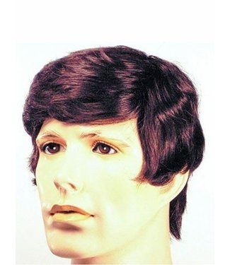 Morris Costumes and Lacey Fashions Discount Better Man Med Brown 4 Wig