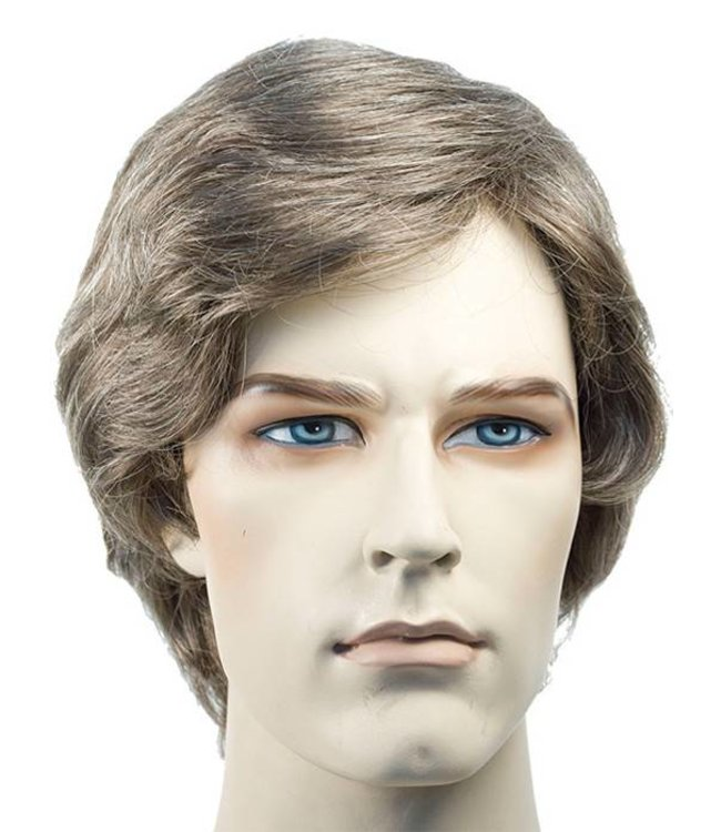 Morris Costumes and Lacey Fashions Better Man's Wig, Medium Grey Wig