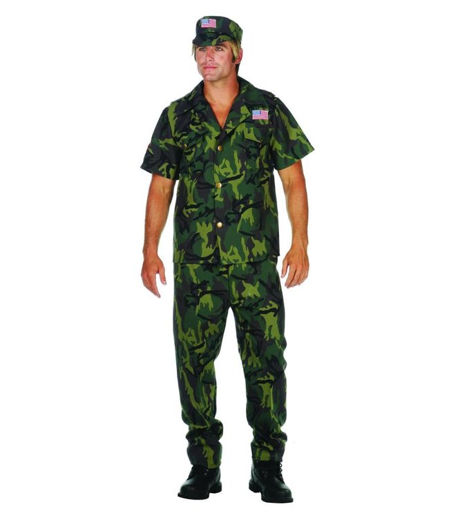 RG Costumes And Accessories Camo Commando - Adult Medium 36-38