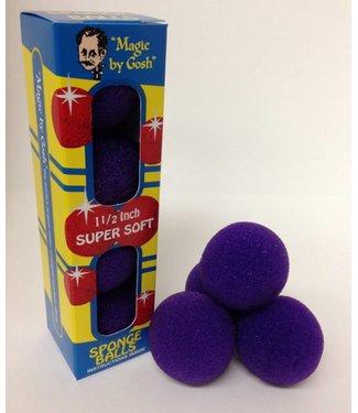 2 inch 4 Super Soft Sponge Balls (Purple) (M13)