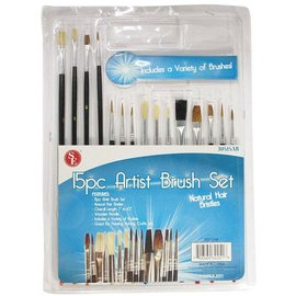15 pc. Artist Brush Set by Sona Enterprises