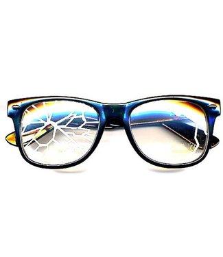 Cracked Lens Nerd Glasses