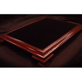 Elite Table Mahogany with Black Velvet (Small) by Subdivided Studios - Trick