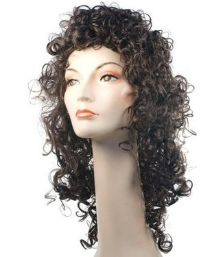 Morris Costumes and Lacey Fashions Fancy Bargain Curly Brown Wig