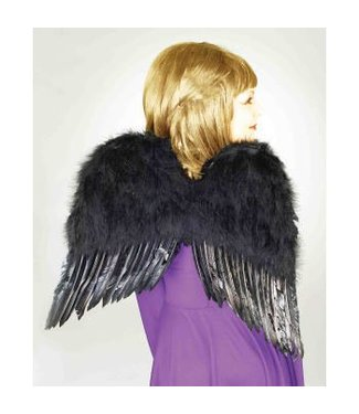 Forum Novelties Feather Wings, Black - 22 inches
