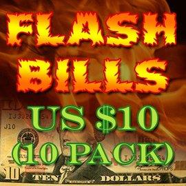 Flash Bills - Ten Pack $10.00 Denominations