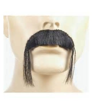 Morris Costumes and Lacey Fashions Fu Manchu Black Moustache Human Hair