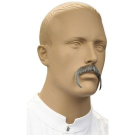 Morris Costumes and Lacey Fashions Moustache - Fu Manchu, Grey (human hair)