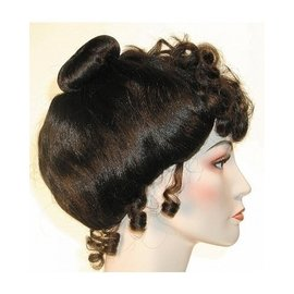 Morris Costumes and Lacey Fashions Gibson Victorian - Brown Wig