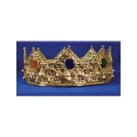Elope Gold Crown With Round Stones - Metal