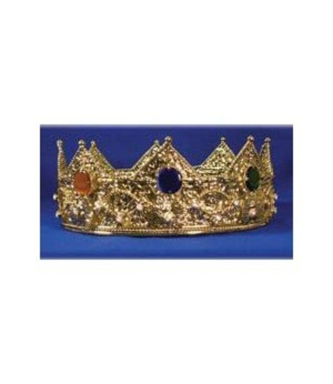 Elope Gold Crown With Round Stones - Metal by Elope