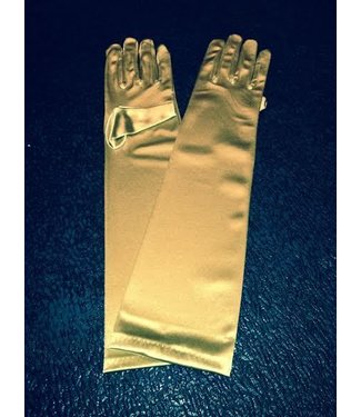 Gloves Gold Elbow Length Satin by Beyco