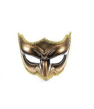 Forum Novelties Gold Venetian Half Mask IM-313-2