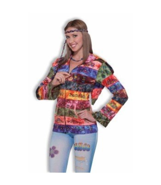 Forum Novelties Hippie - Hooded Rainbow Jacket 14-16
