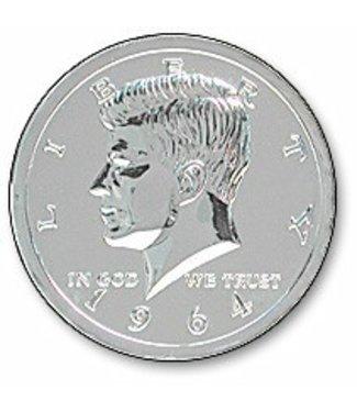 Jumbo Coin 3 inch Chrome Half Dollar