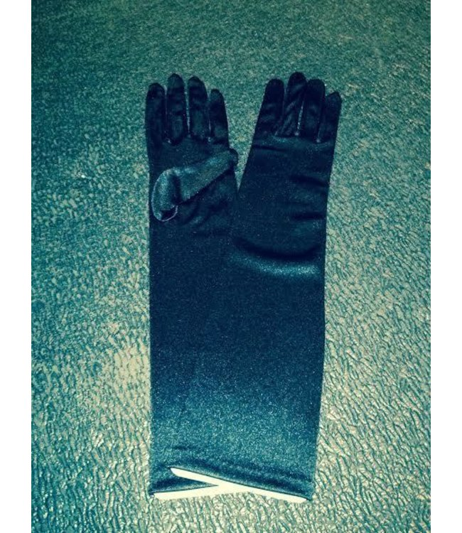Gloves Black Elbow Length Satin by Beyco