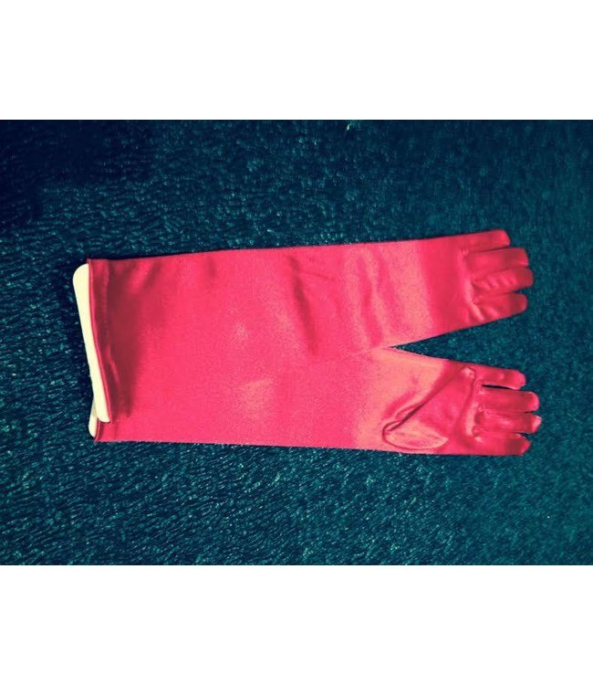 Gloves Red Elbow Length Satin by Beyco
