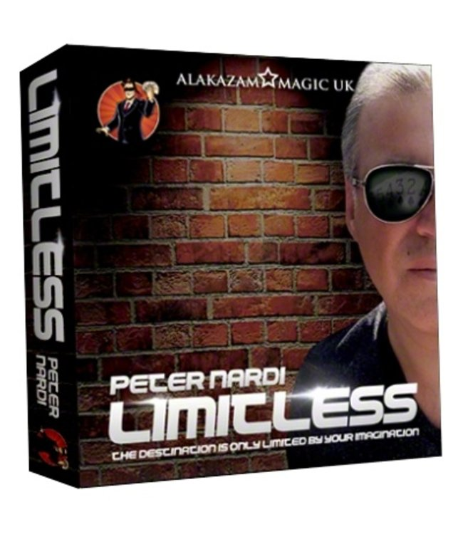 Limitless (7 of Hearts) DVD and Gimmicks by Peter Nardi and Alakazam Magic UK