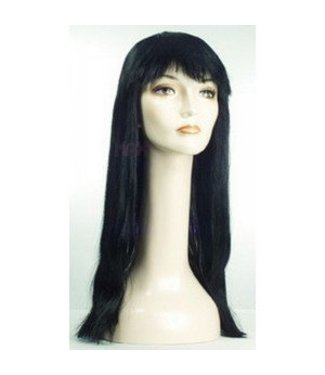 Morris Costumes and Lacey Fashions Long Pageboy, Black Wig