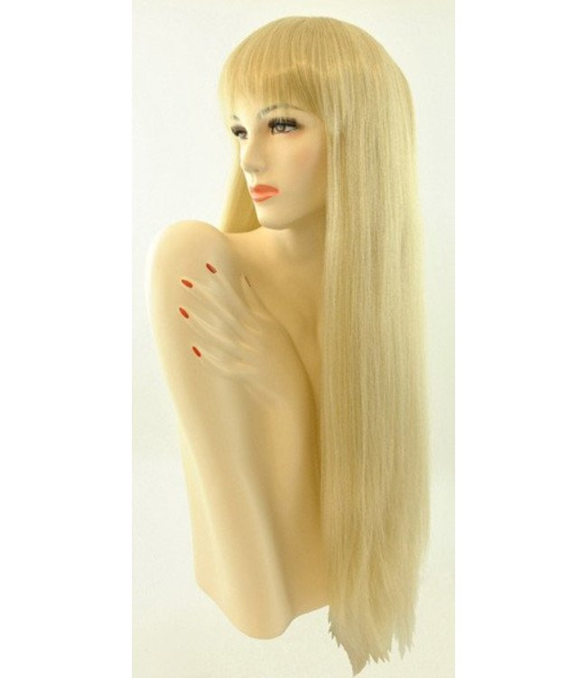 Morris Costumes and Lacey Fashions Long Pageboy Wig, Blonde Wig