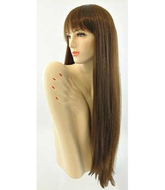 Morris Costumes and Lacey Fashions Long Pageboy, Lt. Brown Wig