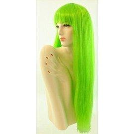 Morris Costumes Long Pageboy, Green Wig