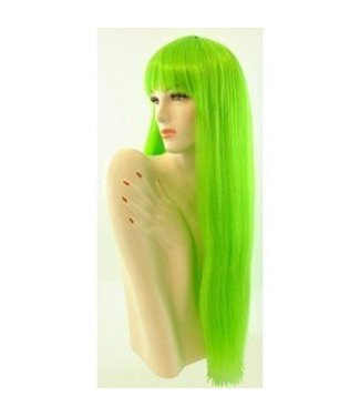 Morris Costumes and Lacey Fashions Long Pageboy, Green Wig