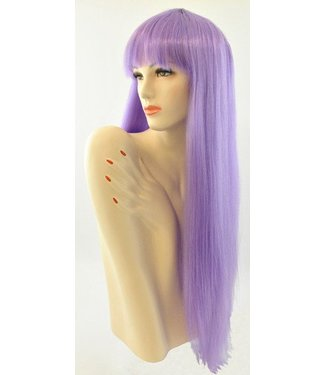 Morris Costumes and Lacey Fashions Long Pageboy, Purple Wig