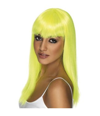 Morris Costumes and Lacey Fashions Long Pageboy Yellow Wig
