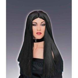 Forum Novelties Long Black Wig, Parted (360)