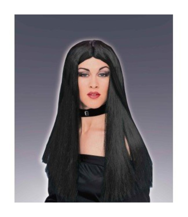 Forum Novelties Long Black Wig, Parted (360)