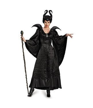 Disguise Maleficent Christening Black Gown - Adult Deluxe Size 4-6