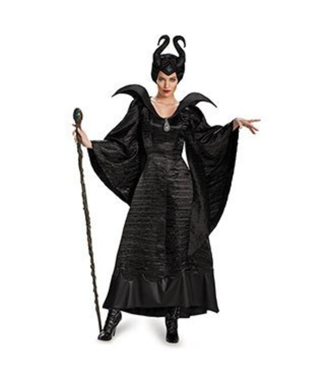 Disguise Maleficent Christening Black Gown - Adult Deluxe Size 8-10