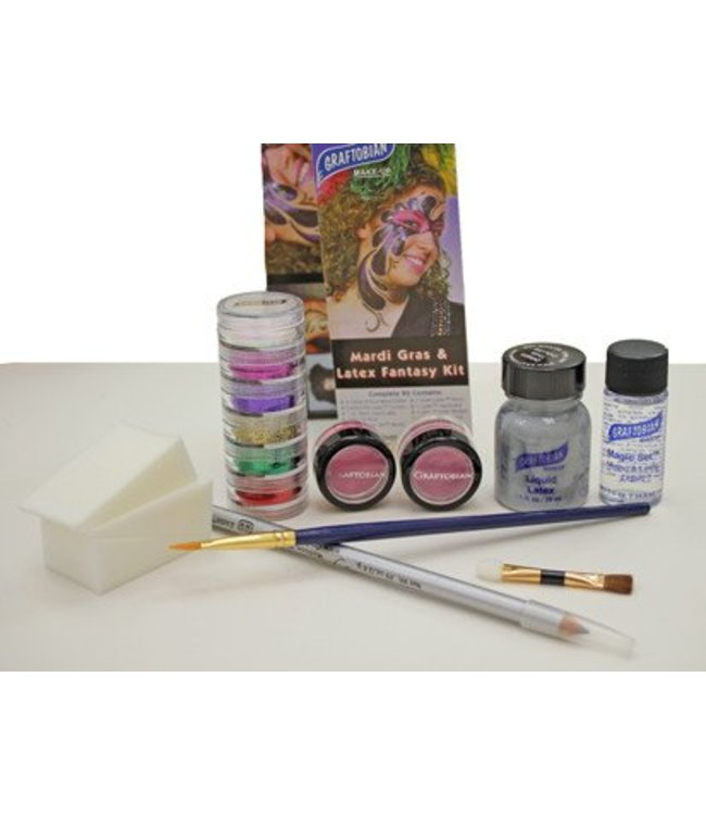 Graftobian Make-Up Company Mardi Gras And Latex Fantasy Dance Kit