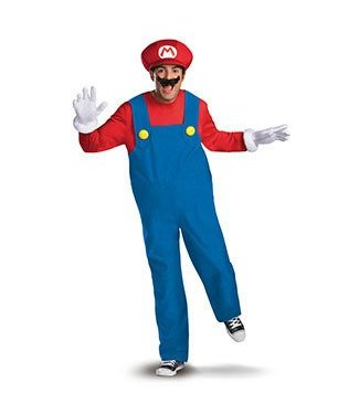 Disguise Super Mario Deluxe Adult XL 42-46